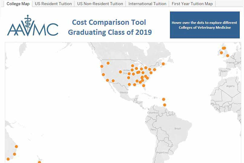 AAVMC releases updated cost comparison tool for future veterinary students