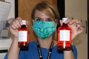 Sanitizer donation eases COVID-related shortages