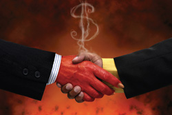 Satanic handshake