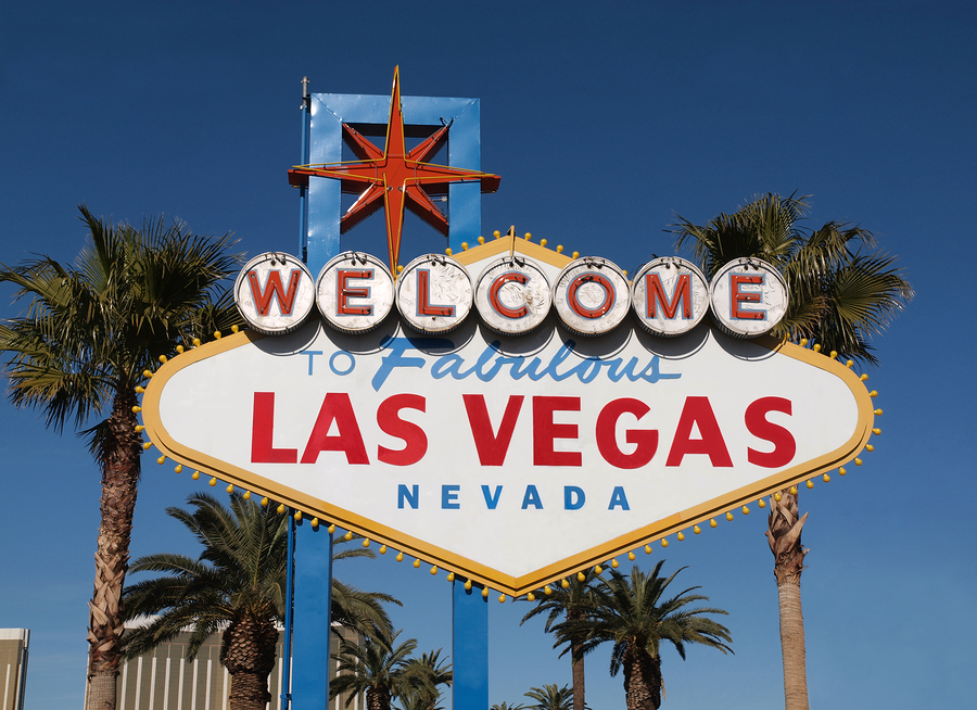 fabulous las vegas nevada welcome sign with palm trees veterinary