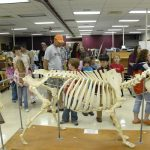 Children touring the veterinary school during the annual Open House.