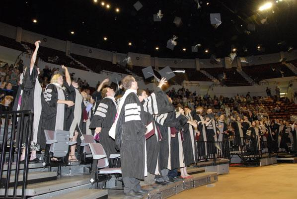 The college's graduating class of 2008.