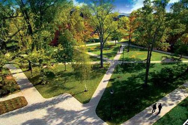 The University of Prince Edward Island's historic quad.