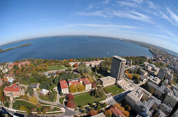 The University of Wisconsin, Madison, is nestled between two lakes. Madison, the state capital, has the feel of a small city with the benefits of an urban environment