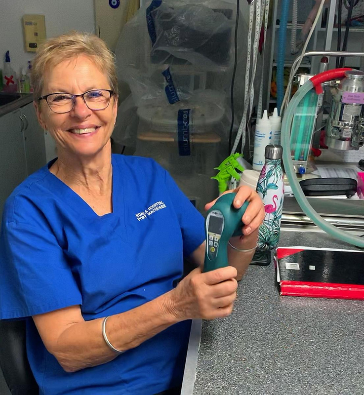 Port Macquarie Koala hospital director Cheyne Flanagan noticed faster healing times when using this laser on the koalas, and quickly added the modality to the facility's regular treatment regimen.