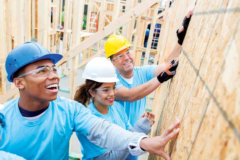 Devoting your time to a local organization is another way you can be generous. Habitat for Humanity is a great example.