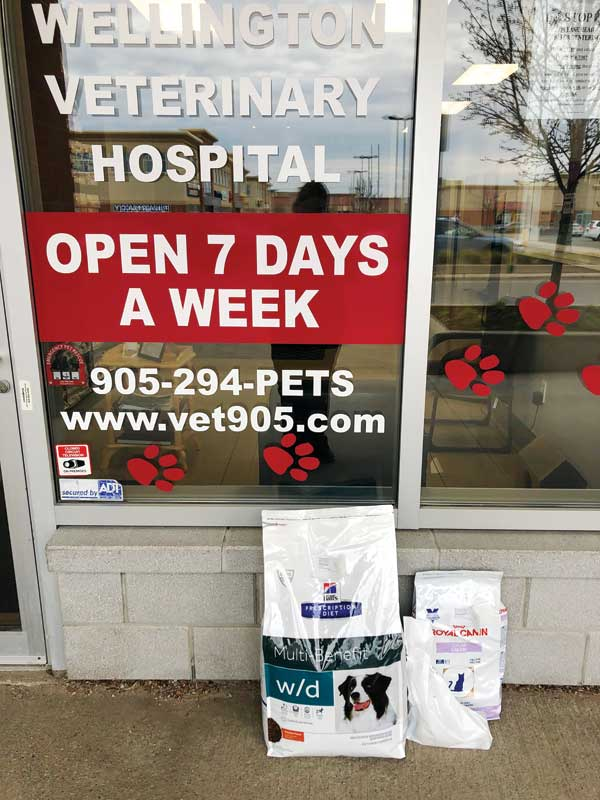 Besides offering curbside pickup to clients of preventatives, long-term drugs, and food, talk with your veterinary distributor about setting up and promoting your online store. Photo courtesy Cliff Redford