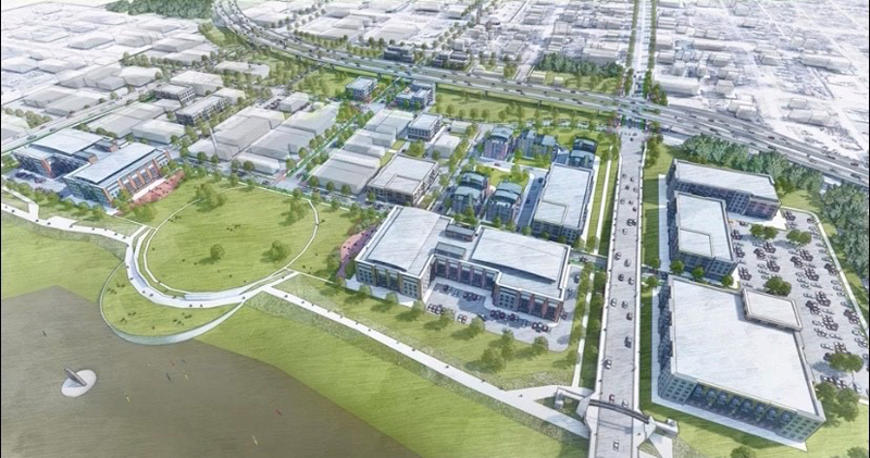 A rendering of the future innovation campus in Topeka, Kan. Image courtesy The City of Topeka Master Plan