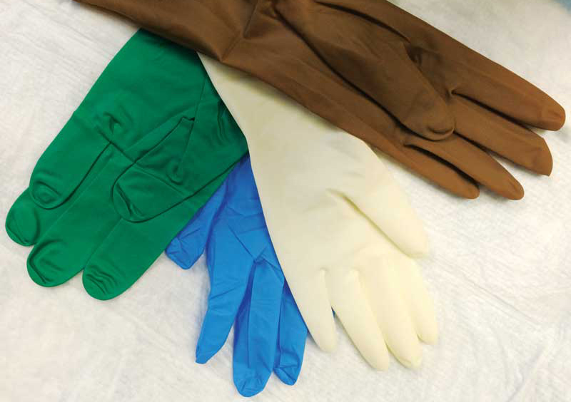 Both surgery and exam gloves can be thoroughly washed and dried.