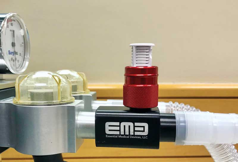 Some safety valves open once the airway pressure exceeds a certain limit, helping to eliminate the risk of damaging the patient's lungs (barotrauma) even if the pop-off valve is mistakenly left closed during a procedure, after using a mechanical ventilator, or during machine leak testing.