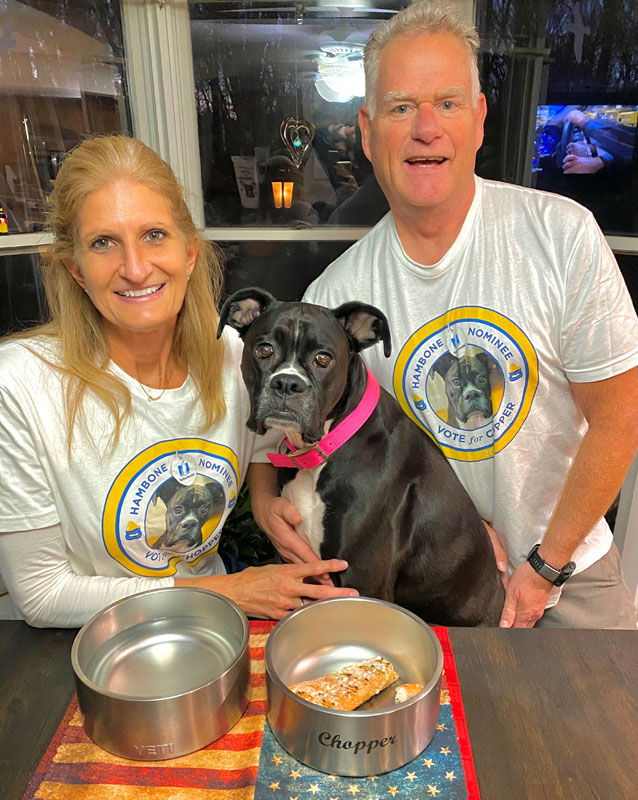 Chopper and her family. Photo courtesy Nationwide