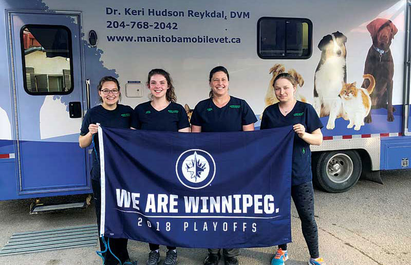 Dr. Hudson Reykdal's mobile clinic helps her and her team treat animals in Manitoba's remote areas.
