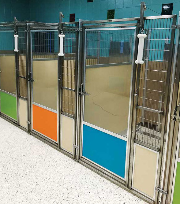Privacy can be achieved by placing an isolation panel in either the bottom of the swing gate and/or the bottom of the fixed stall front.
