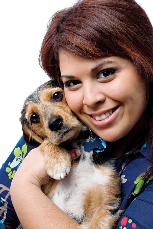 Stop and smell the puppy breath! Love for the animals can help you stay in love with veterinary medicine during times of career doldrums. Photo ©BigStockPhoto.com