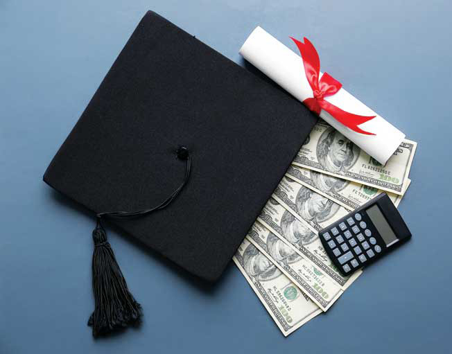 Student loans can put new graduates in debt for decades. Maintaining your payments, spending less than you earn, and making wise investments can make the process less painful. Photo ©BigStockPhoto.com