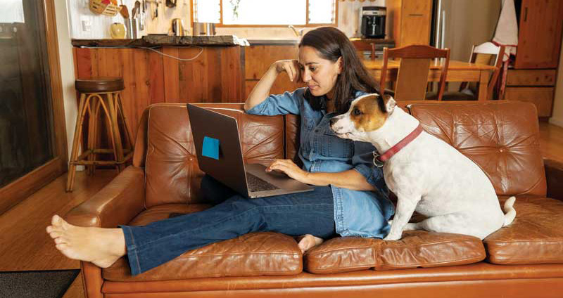Now that dogs are used to having company all day, they might have a difficult adjustment if their humans go back to an office. Studies show how people act around their dogs can have a big influence on their pets' behavior and how they handle the transition. Photo ©BigStockPhoto.com