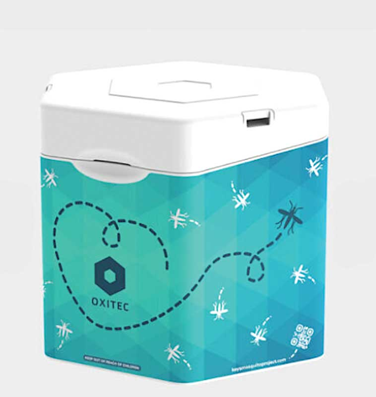 """Figure 3: Oxitec's """"just add water"""" mosquito box."""